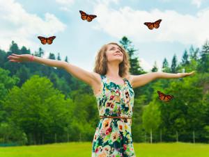 Monarch Butterfly girl